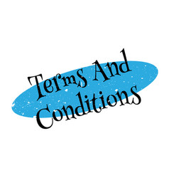 Terms and conditions rubber stamp vector
