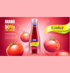 tomato ketchup ad vector image
