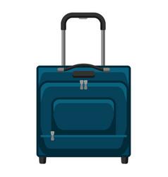 travel textile suitcase vector image