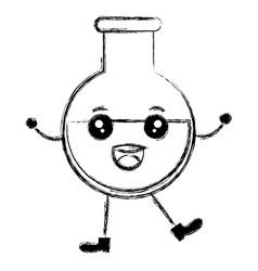 Tube test kawaii character vector