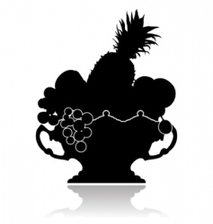 vase with fruit vector image vector image