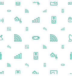 wireless icons pattern seamless white background vector image