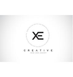 Xe x e logo design with black and white creative vector