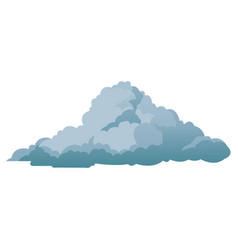 cloud climate weather cold shadow vector image