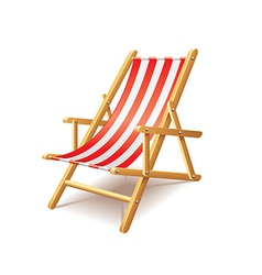 deck chair isolated vector image vector image