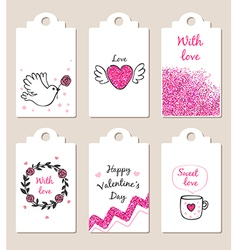 Decorative badges for valentines day vector