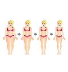 weight loss woman vector image