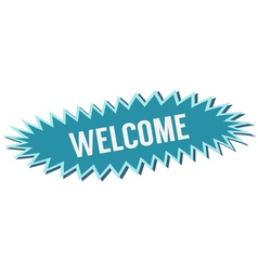 blue banner welcome vector image vector image