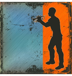 brass player vector image