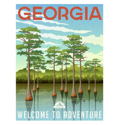 Georgia travel poster or sticker vector