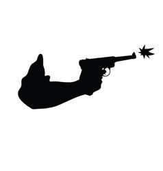 gun in hand vector image vector image
