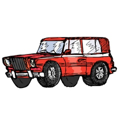 off-road car vector image