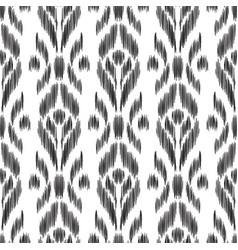 Ikat seamless pattern wallpaper background vector