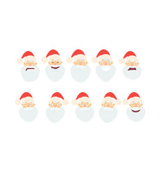 merry christmassanta claus cartoon in flat style vector image vector image