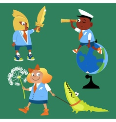 School subjects vector image vector image