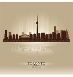 Toronto Ontario skyline city silhouette vector image vector image