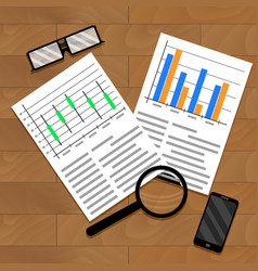 chart and diagram on table vector image vector image
