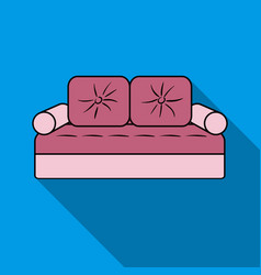 couch icon in flat style isolated on white vector image