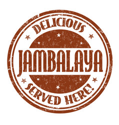 delicious jambalaya sign or stamp vector image vector image