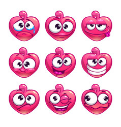 funny cartoon pink jelly monster vector image vector image