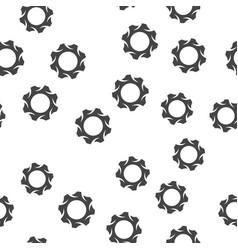 gear seamless pattern vector image