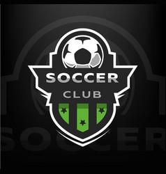 Soccer club sport logo vector