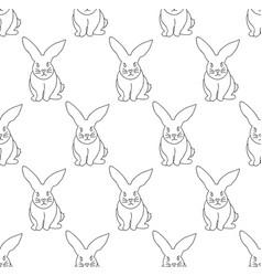 white rabbit seamless background vector image