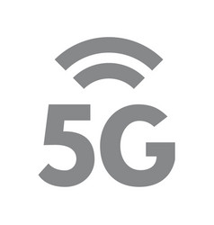 5g wireless network symbol fifth generation vector image