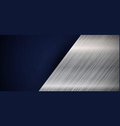abstract banner web elegant silver metallic vector image