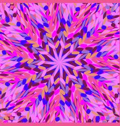 Abstract dynamic circular tiled mosaic pattern vector