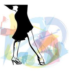 Abstract of Latino Dancing woman legs vector