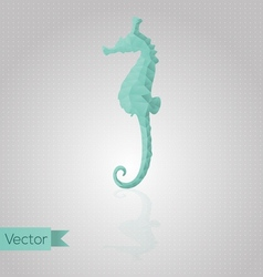 Abstract triangular seahorse vector image