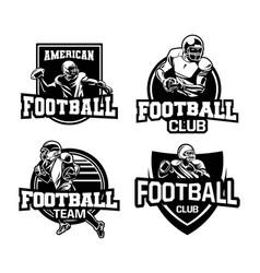 American football badge logo collection vector