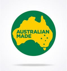 Australian made in australia logo vector