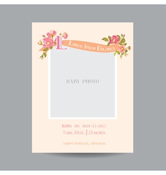 Baarrival or shower card - with photo frame vector