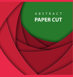 background with deep red and green color paper vector image