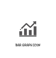 bar graph icon simple flat style vector image