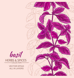 Basil background vector