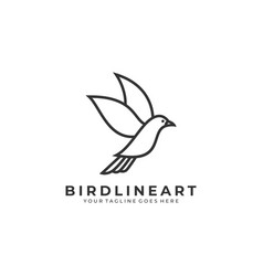 bird template vector image