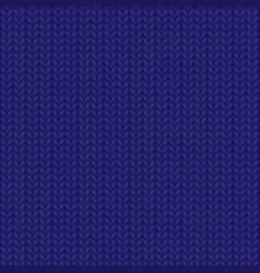 blue realistic knit texture seamless pattern vector image