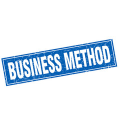 Business method square stamp vector
