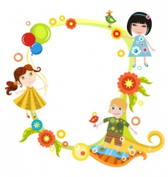 Children card vector