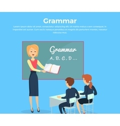 Childrens Grammar Teaching vector