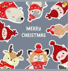 christmas posters template for vector image