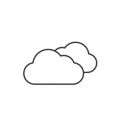 cloudy weather thin line icon linear vector image