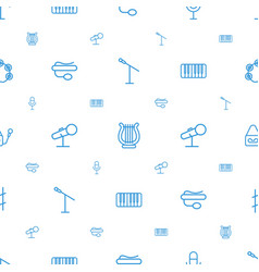 concert icons pattern seamless white background vector image