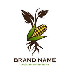 Corn shoot logo vector
