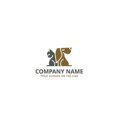 Creative logo design pet dog cats vector