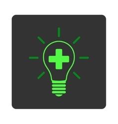 Creative Medicine Bulb Flat Button vector