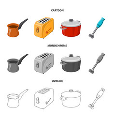 Design kitchen and cook sign collection vector